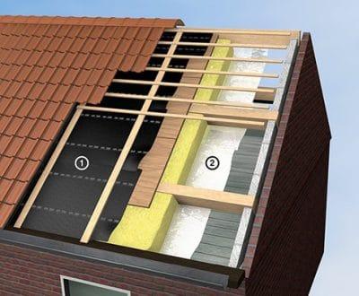 dampopen dakfolie plaatsen